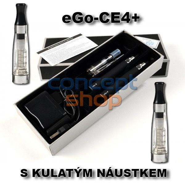 2X ORIGINÁL EGO-CE4+ S KULATÝM NÁUSTKEM, KRÁTKÝM KNOTEM ELEKTRONICKÁ CIGARETA 1100 MAH - SKLADEM - MOŽNOST DOPRAVY ZDARMA