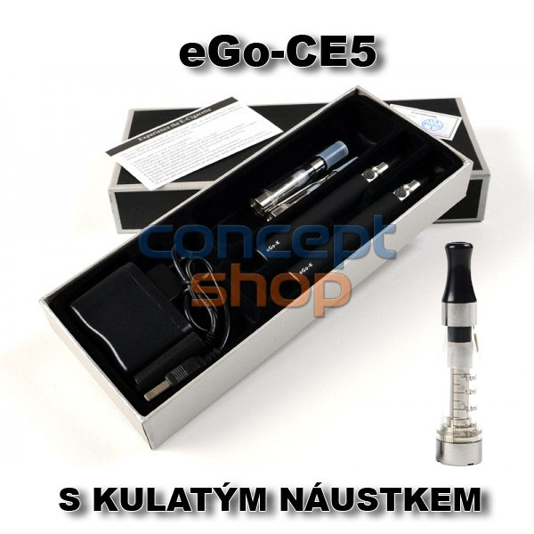 2x ORIGINÁL eGo-CE5 S KULATÝM NÁUSTKEM Elektronická cigareta 1100 mAh - SKLADEM - MOŽNOST DOPRAVY ZDARMA