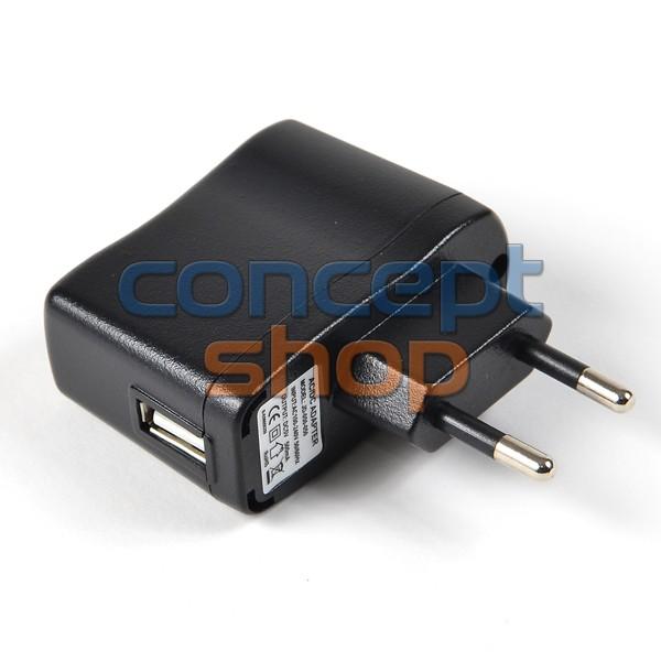 AC adaptér 230V s USB pro elektronické cigarety eGo-DC (USB nabíječka do el. sítě)