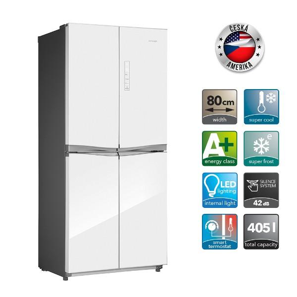 CONCEPT LA 8580wh - Česká Amerika, Volně stojící kombinovaná chladnička s mrazničkou + MOŽNOST DOPRAVY ZDARMA